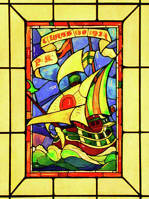 Digital Art - Sailing The Stained Glass Sea by Rick Wicker