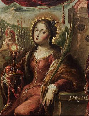 Saint Barbara Wall Art - Painting - Saint Barbara by Cristobal de Villalpando