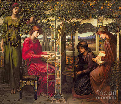 Painting - Saint Cecilia By John Melhuish Strudwick by John Melhuish Strudwick