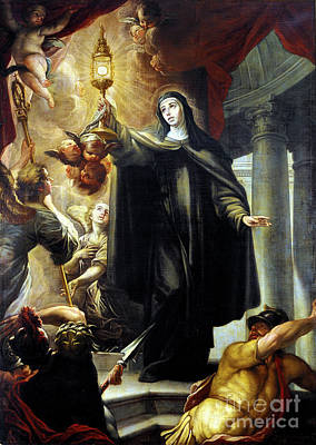 Photograph - Saint Clare Scaring The Infidels With The Eucharist. by Arredondo