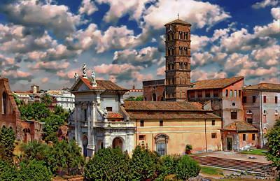 Photograph - Saint Francesca Romana Basilica by Anthony Dezenzio