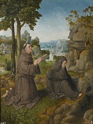 Painting - Saint Francis Of Assisi Receiving The Stigmata by Master of Hoogstraeten