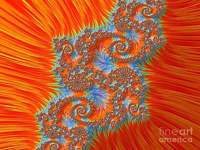 Digital Art - Saint Georges Vanquished Dragon Fractal Abstract by Rose Santuci-Sofranko