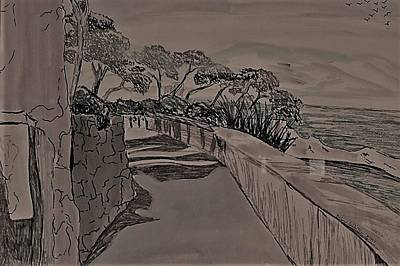 Drawing - Saint Jean Cap Ferrat 1 by Delorys Tyson