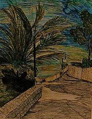 Drawing - Saint Jean Cap Ferrat by Delorys Tyson