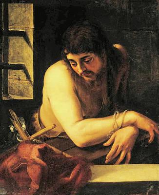 Painting - Saint John The Baptist In Prison by Juan Fernandez de Navarette