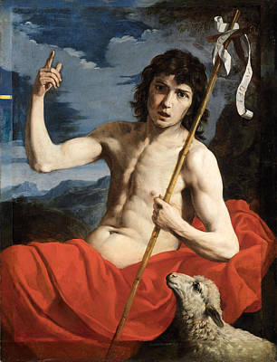 Painting - Saint John The Baptist In The Wilderness by Attributed to Michele Desubleo