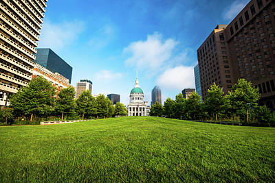Photograph - Saint Louis City Building And Skyline by Gregory Ballos