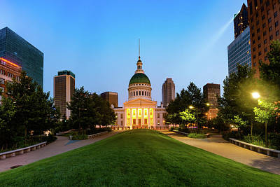 Photograph - Saint Louis Skyline And Old Courthouse by Gregory Ballos