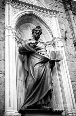 Photograph - Saint Matthew At The Orsanmichele In Florence by John Rizzuto