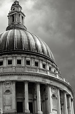 Photograph - Saint Pauls Cathedral Dramatic Sky by Peskymonkey