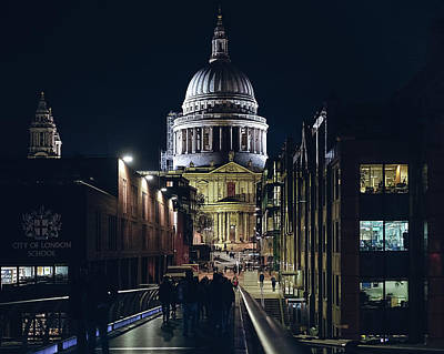 Art Print featuring the photograph Saint Pauls Cathedral by Nisah Cheatham