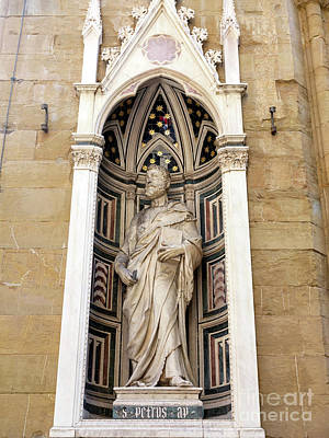 Photograph - Saint Peter At The Orsanmichele In Florence by John Rizzuto