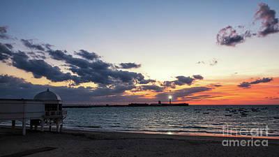 Photograph - Saint Sebastian Lighthouse At Dusk Cadiz Spain by Pablo Avanzini