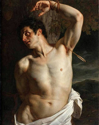 Painting - Saint Sebastian  by Paul Delaroche
