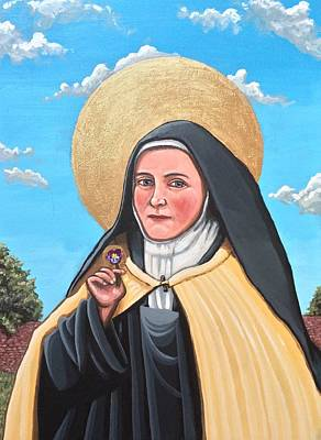 Painting - Saint Therese Of Lisieux,  by Kelly Latimore