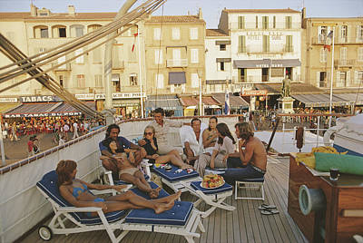 Group Of People Photograph - Saint-tropez by Slim Aarons