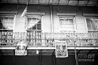Photograph - Saints And Lsu On The Balcony New Orleans by John Rizzuto