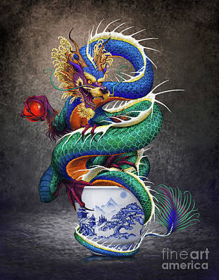 Digital Art - Sake Dragon by Stanley Morrison
