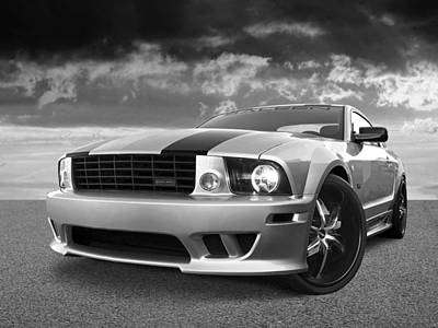 Photograph - Saleen Mustang In Black And White by Gill Billington