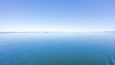 Photograph - salish sea view of the shoreline of the north west coast of Vaco by Alex Grichenko