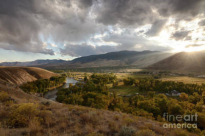 Photograph - Salmon Valley Sun by Idaho Scenic Images Linda Lantzy