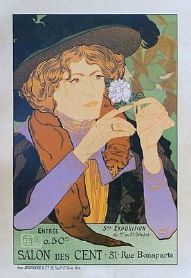 Painting - Salon Des Cent, 1894 Vintage French Poster by Georges de Feure