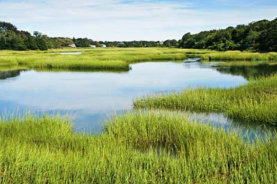 Nature Photograph - Salt Marsh At Full Tide by Kenwiedemann