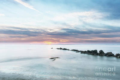 Photograph - Salty Beach Sunset by Dale Powell