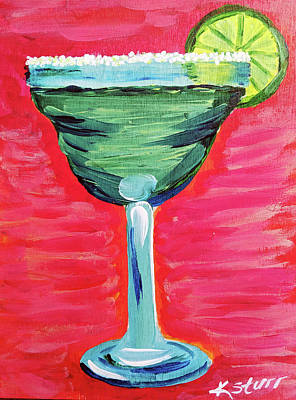 Painting - Salty Margarita by Kathy Sturr