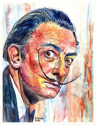 Salvador Dali Portrait Original