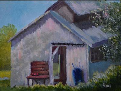 Painting - Salvisa Shed by Roger Snell