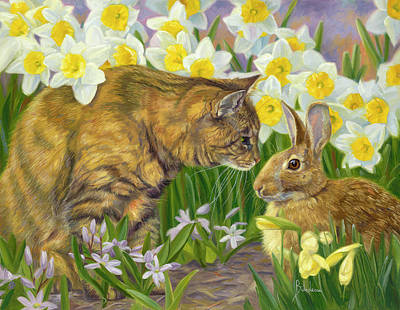 Painting - Sam And The Hare by Lucie Bilodeau