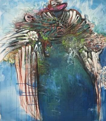Painting - Samurai Phoenix by Laurie Maves ART