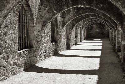 Photograph - San Antonio Mission San Jose - Classic Sepia by Gregory Ballos