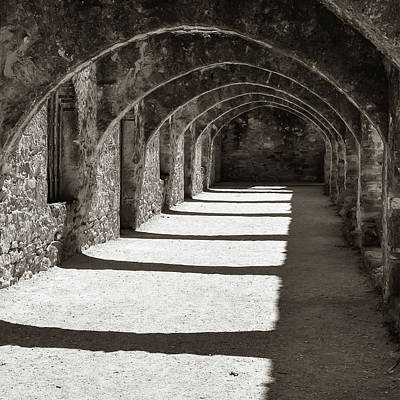 Photograph - San Antonio Mission San Jose - Square Classic Sepia by Gregory Ballos