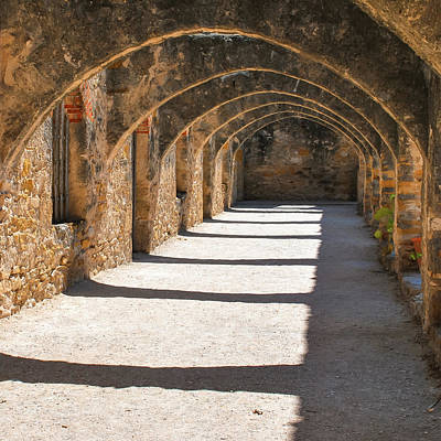 Photograph - San Antonio Mission San Jose - Square by Gregory Ballos