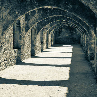 Photograph - San Antonio Mission San Jose - Square Sepia by Gregory Ballos