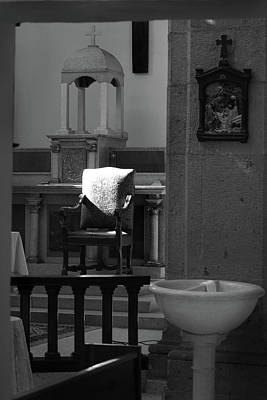 Photograph - San Antonio Templo Cathedra And Font by Jeff Brunton