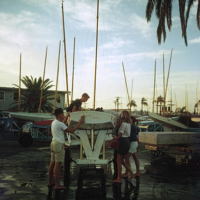 Photograph - San Diego Boatyard by Slim Aarons