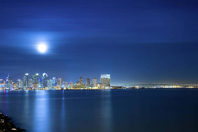 Photograph - San Diego Skyline by Jancouver