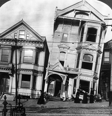 House Photograph - San Francisco 1906 by Hulton Archive