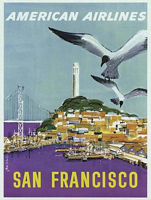 Painting - San Francisco American Airlines by Unknown