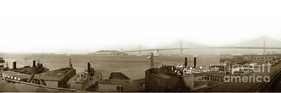 Photograph - San Francisco And Oakland Bay Bridge by California Views Archives Mr Pat Hathaway Archives