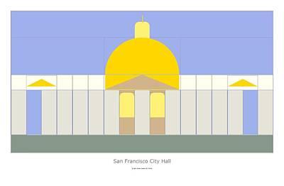 Digital Art - San Francisco City Hall by John Steven Calder