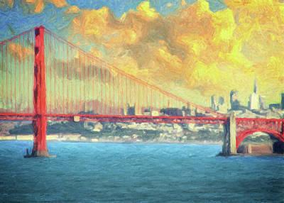 Painting - San Francisco City Skyline by Zapista Zapista