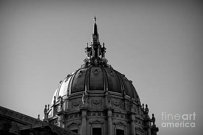 Photograph - San Francisco Dome City Hall Bw by Chuck Kuhn