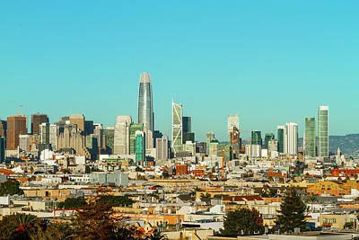 Photograph - San Francisco Financial District From Dolores Park by Bonnie Follett