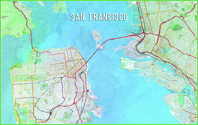 Digital Art - San Francisco by Gary Grayson
