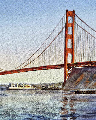Painting - San Francisco Golden Gate Bridge  by Irina Sztukowski